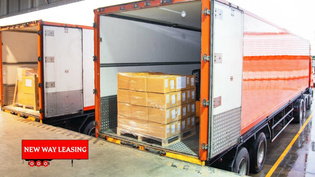 Swing doors like these are commonly used, but you'll also find roll-up doors in semi-trailer rentals.